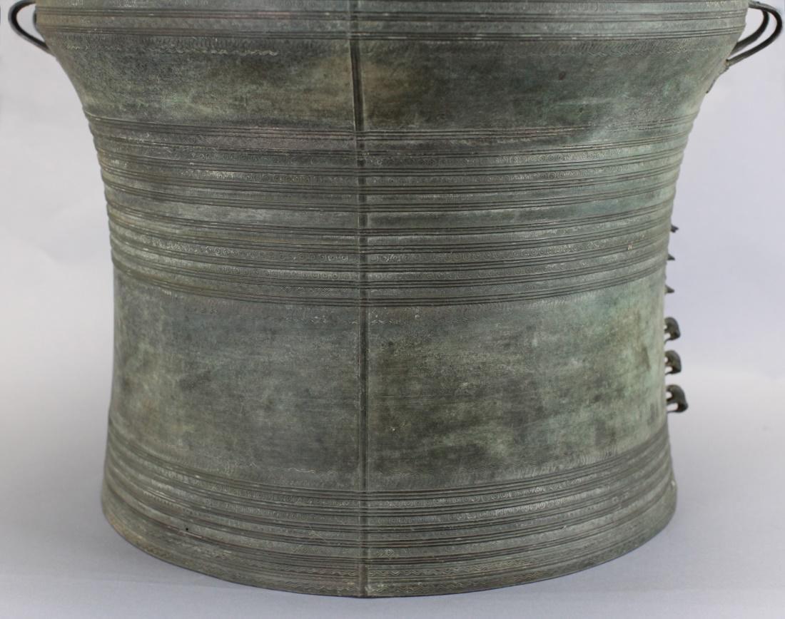 Southeast Asian bronze rain drum, 19th c. - 4