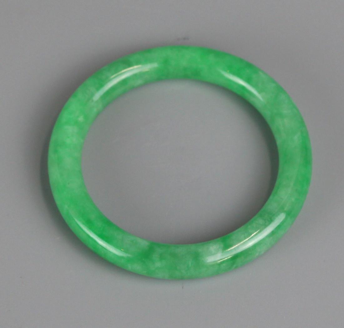 2 Chinese jadeite bangles - 2