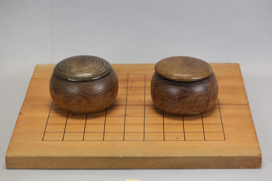 Chinese Go game set w/ boxwood board