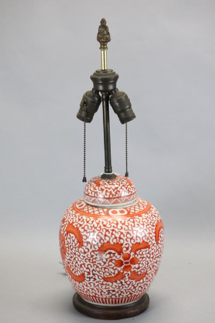 Chinese porcelain cover jar, 19th c.