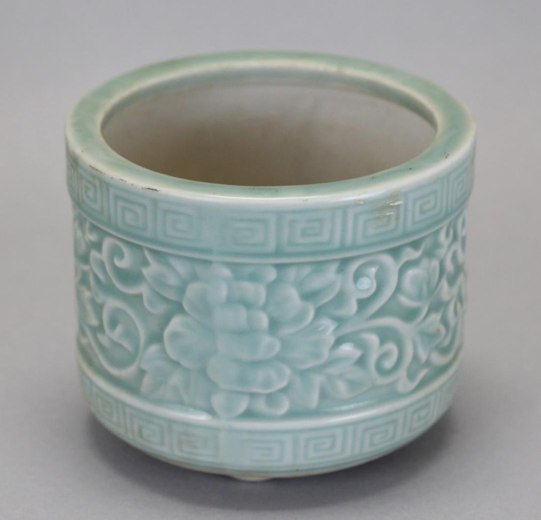 Chinese celadon glazed censer, Republican period