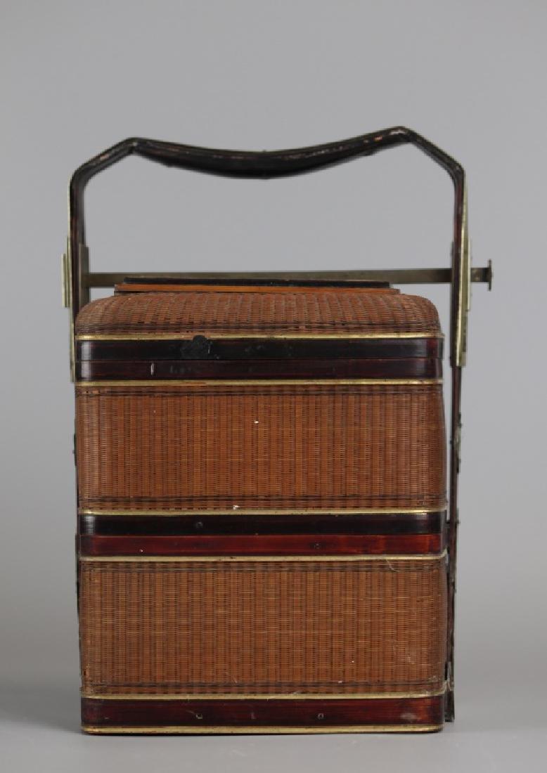Chinese bamboo basket, 19th c. - 2