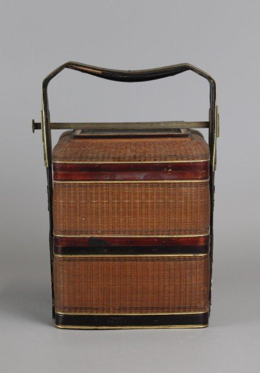 Chinese bamboo basket, 19th c. - 3
