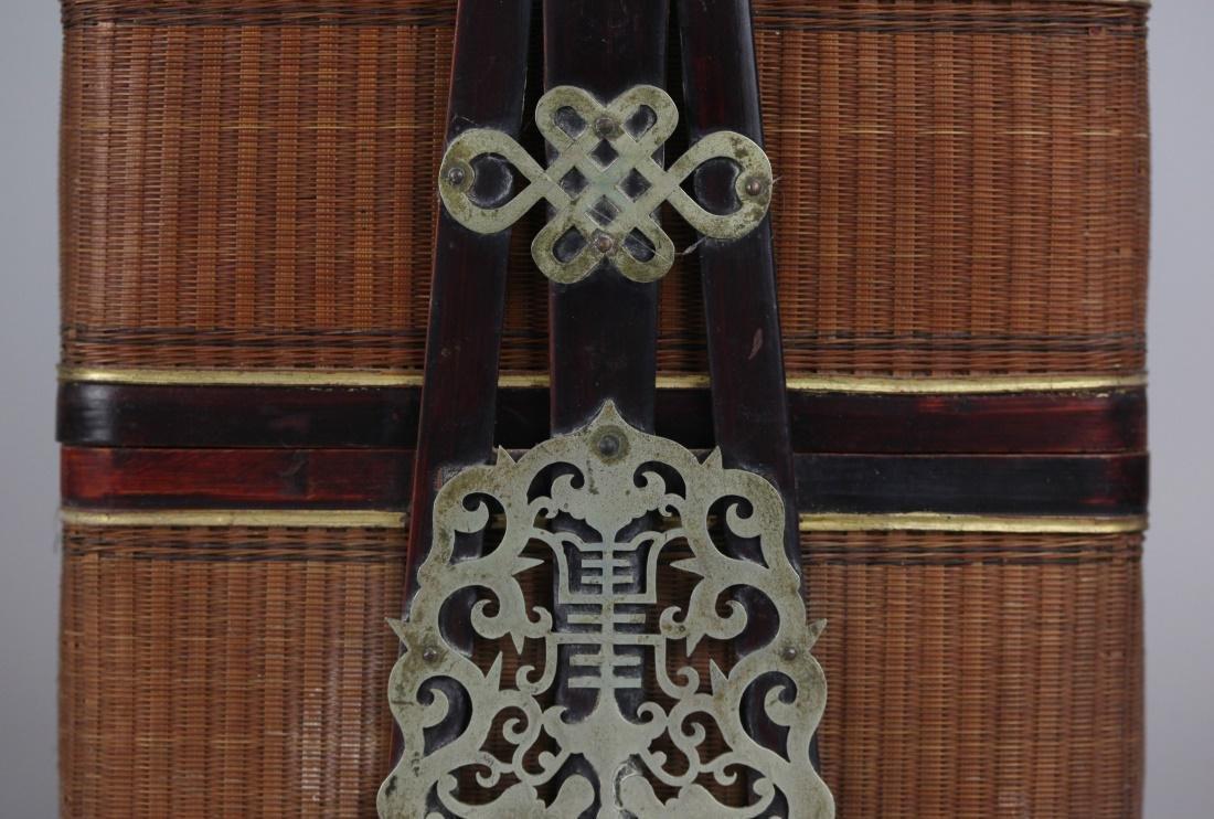 Chinese bamboo basket, 19th c. - 5