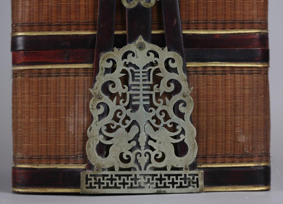 Chinese bamboo basket, 19th c. - 6