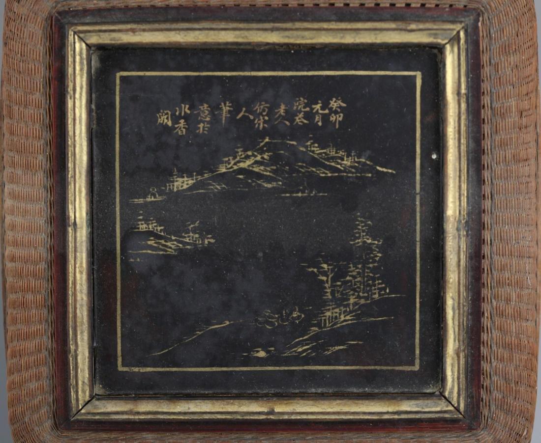 Chinese bamboo basket, 19th c. - 9