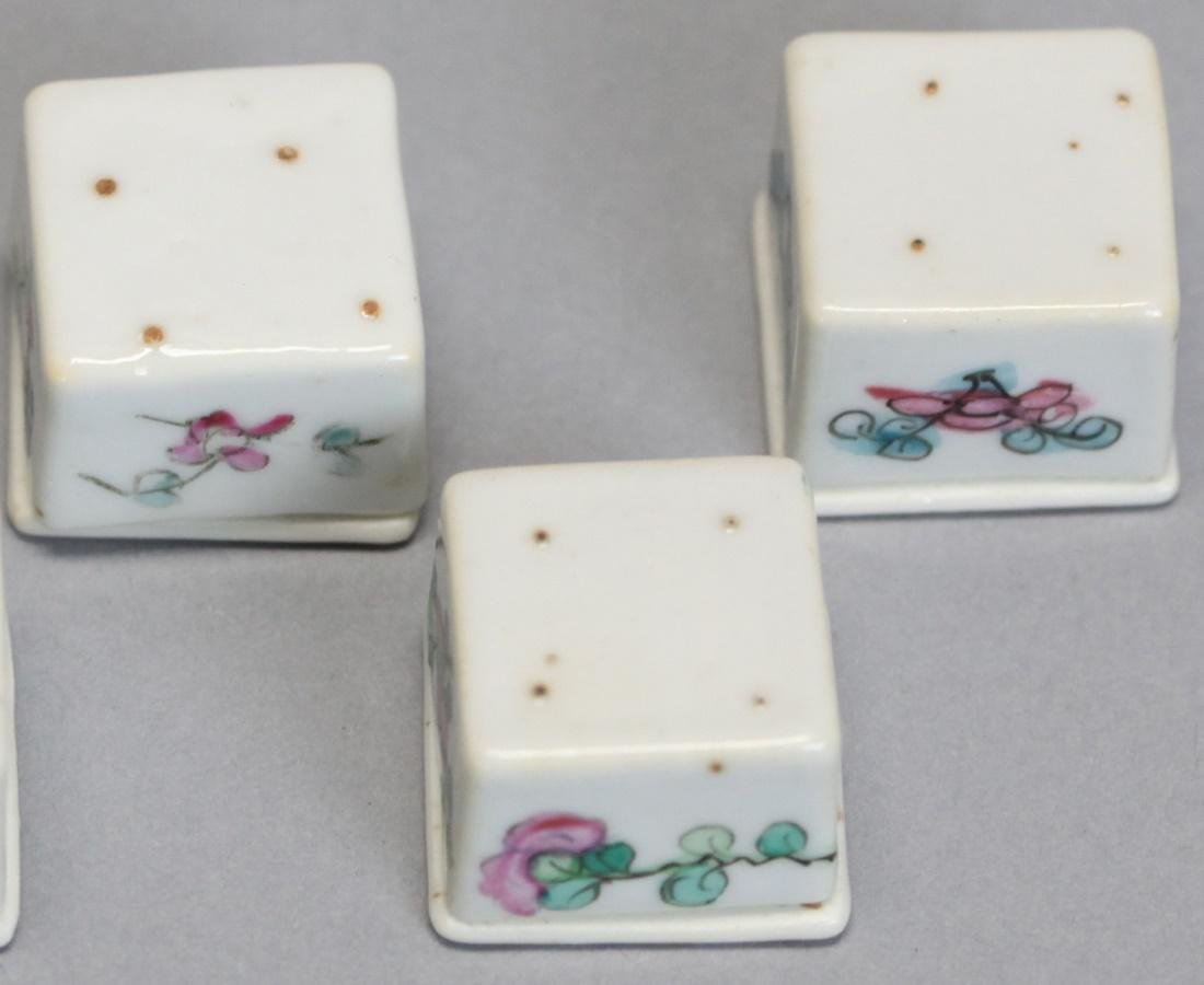 set of 5 Chinese porcelain cover boxes, 19th c. - 3