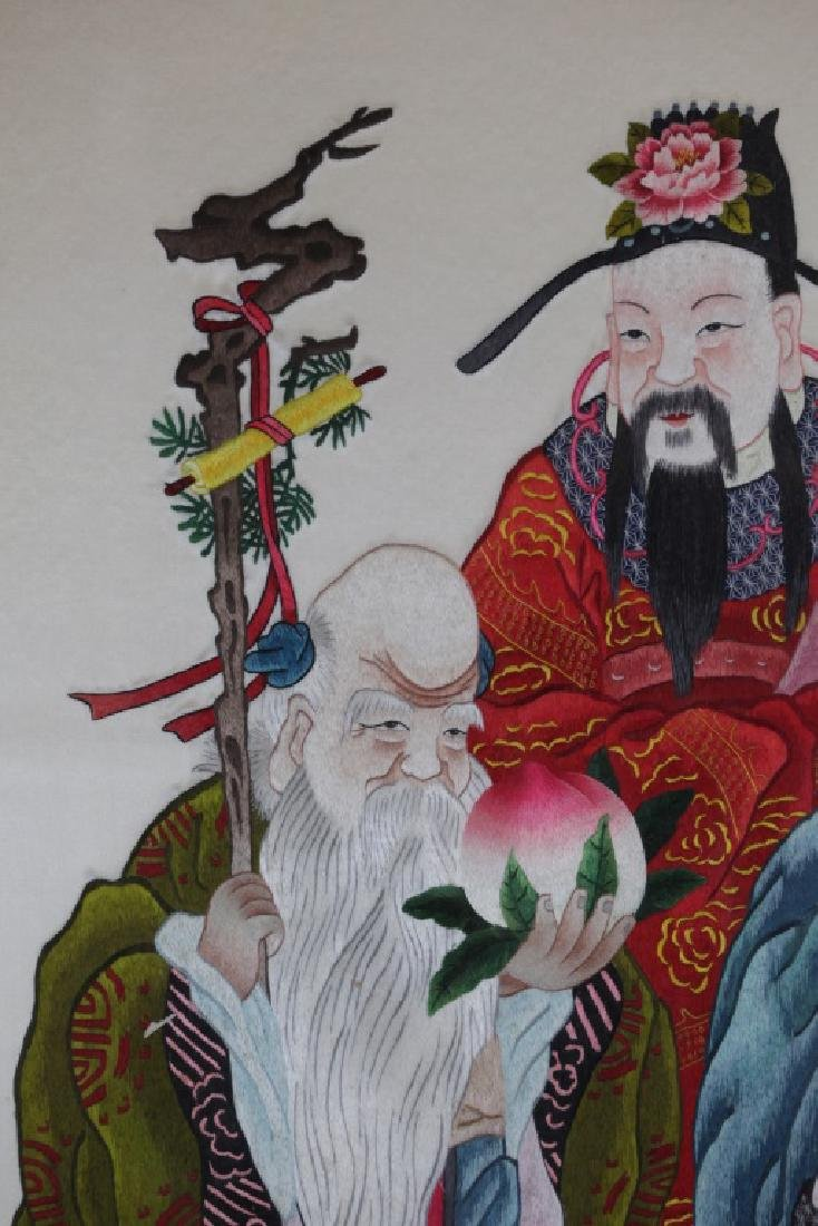 Chinese embroidery of three immortals - 3