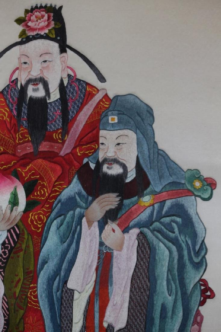 Chinese embroidery of three immortals - 4