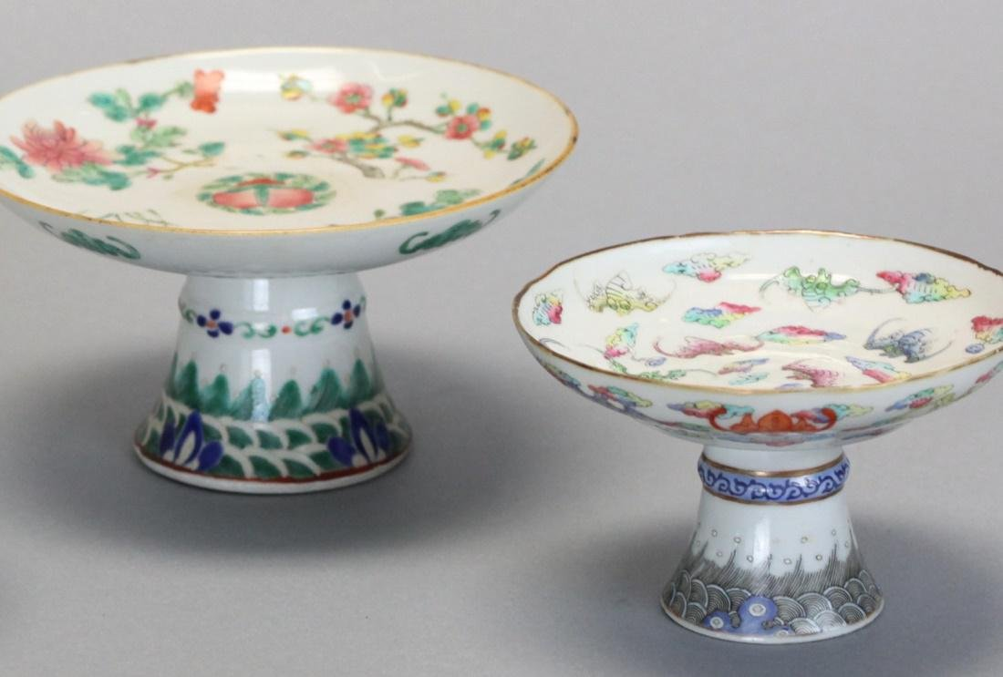 3 Chinese famille rose raised platters, 19th c. - 2