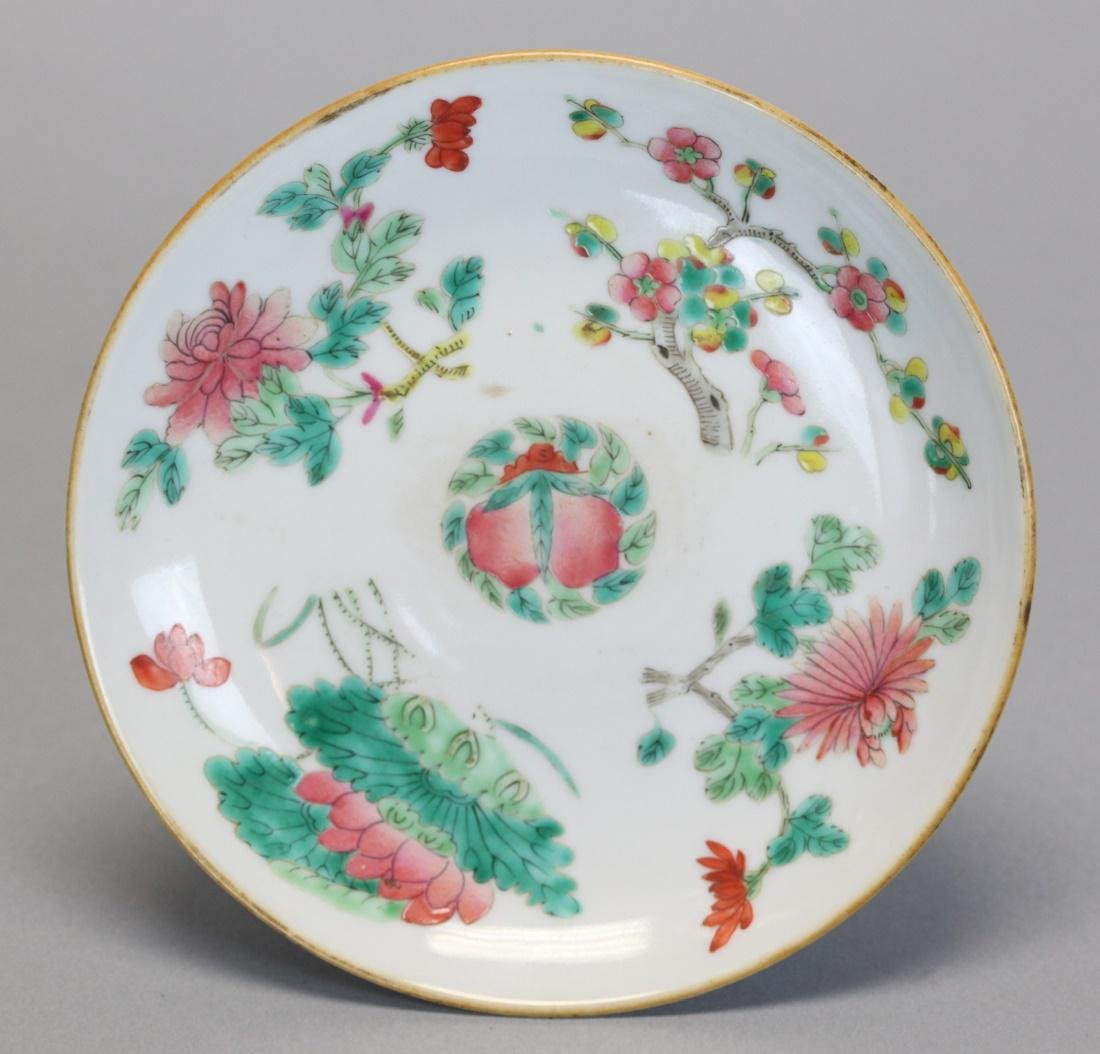 3 Chinese famille rose raised platters, 19th c. - 3