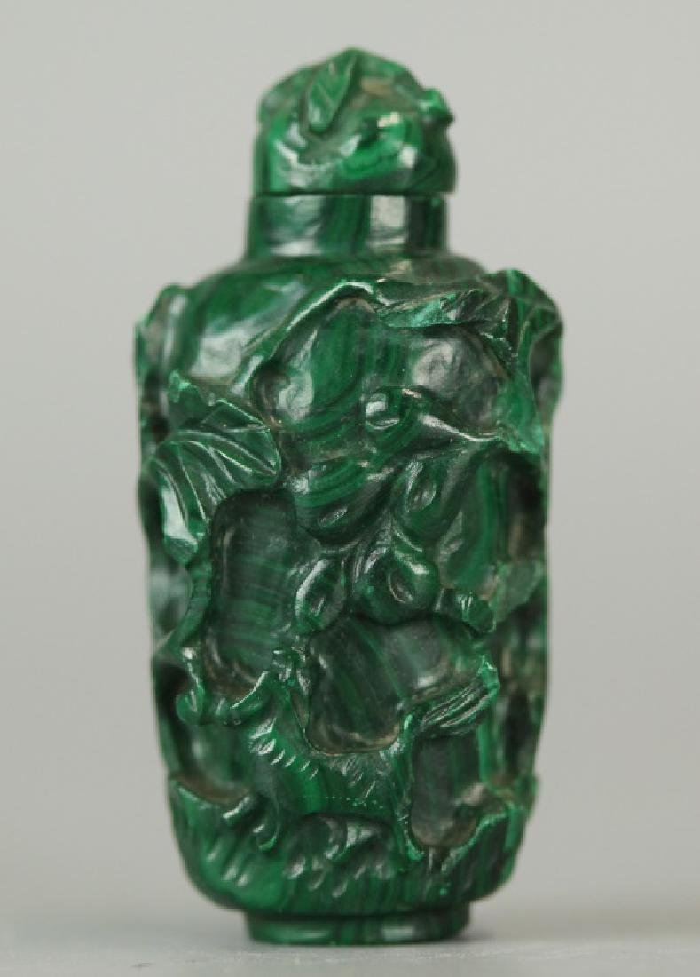 2 carved Chinese snuff bottles - 2