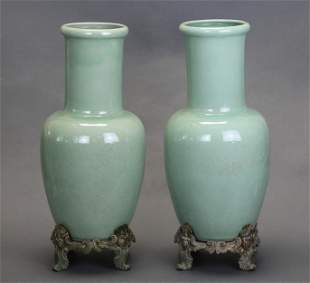 pair of Chinese porcelain vases, possibly Republican pe