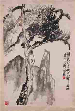 Chinese scroll painting (attributed to Zhu Qi Zhan)