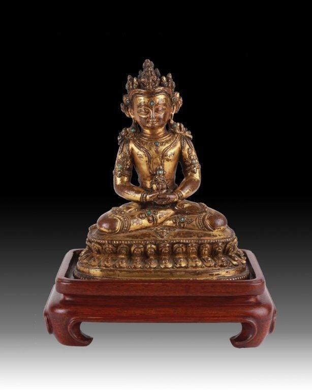Tibetan gilded bronze tara (Ming dynasty)