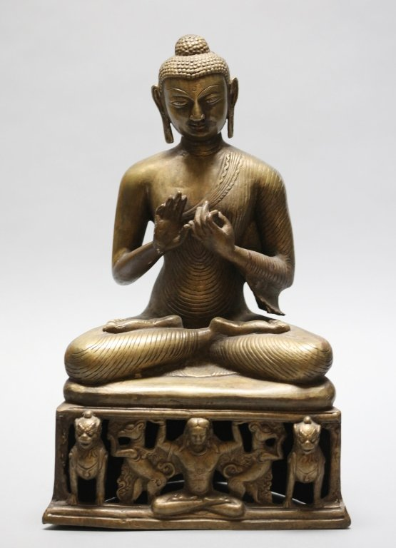 large Chinese Tibetan bronze buddha