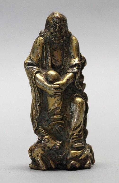Chinese gilt bronze luohan
