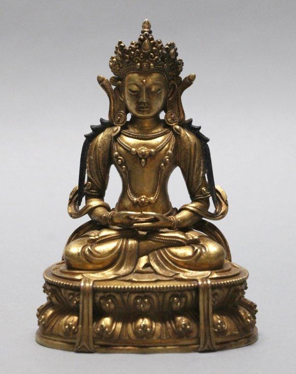 Chinese gilt bronze tara