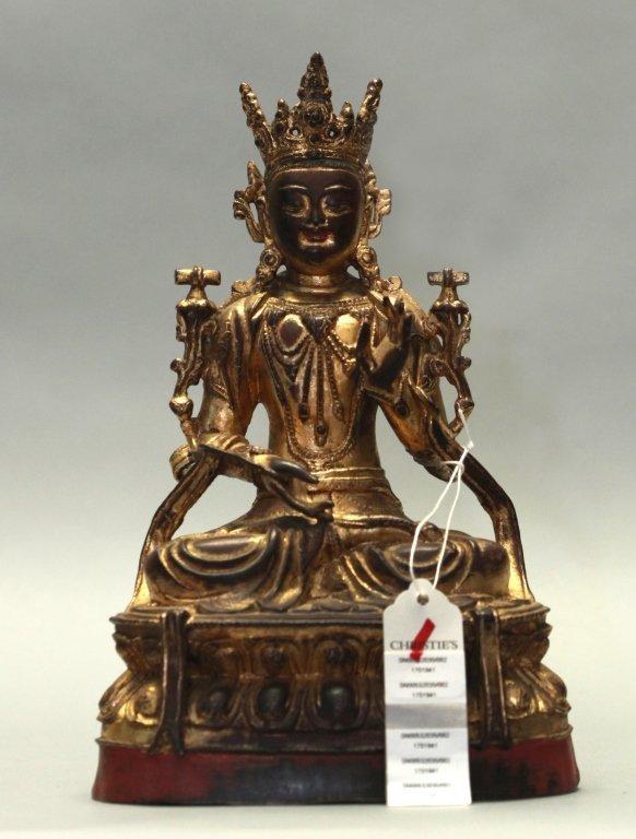 Chinese bronze buddha, Qing dynasty