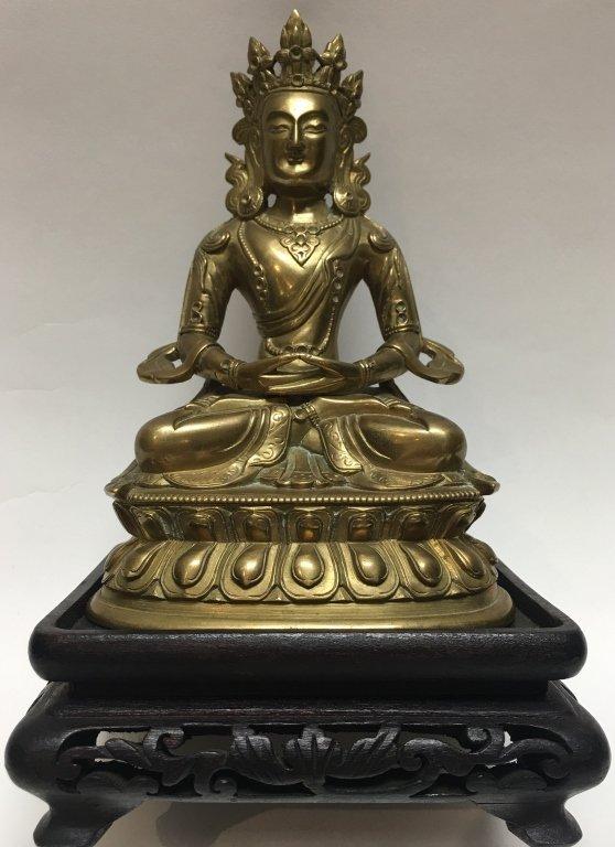 Chinese bronze Amytaus buddha (Qing dynasty)