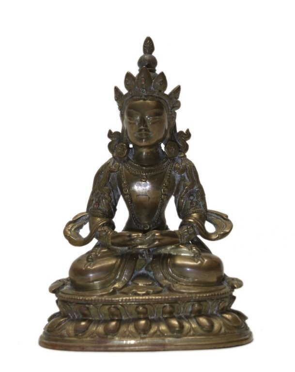 Chinese bronze tara (Qing dynasty)