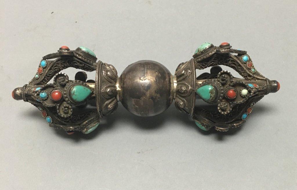 Tibetan silver vijar (late Qing dynasty)