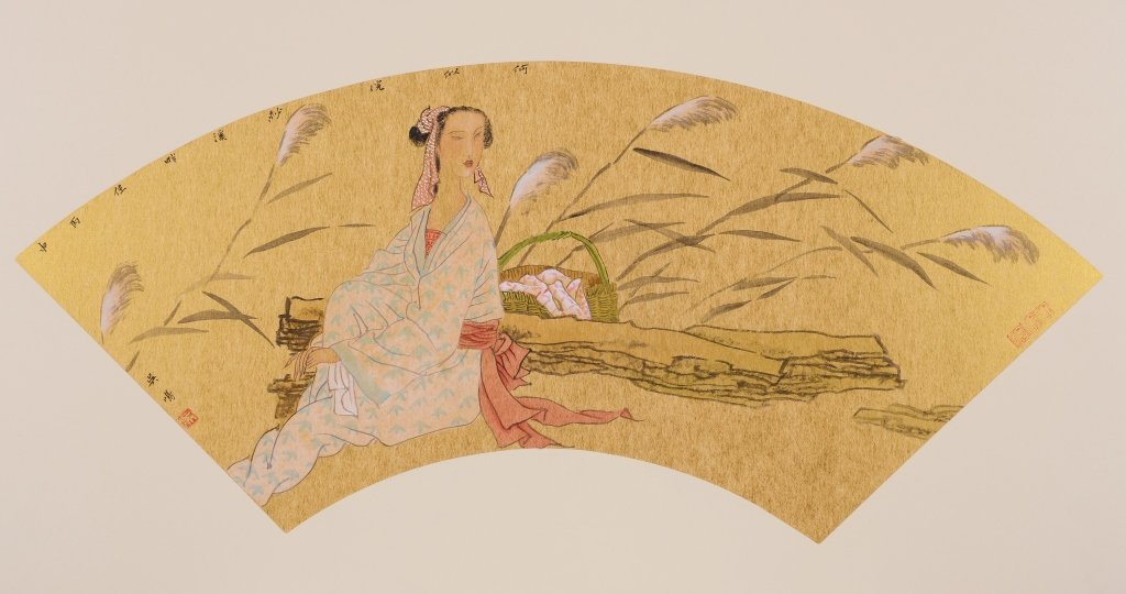 Chinese painting of figure by artist Wu Ming