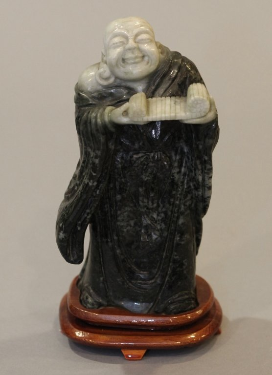 Chinese stone carving of the laughing buddha