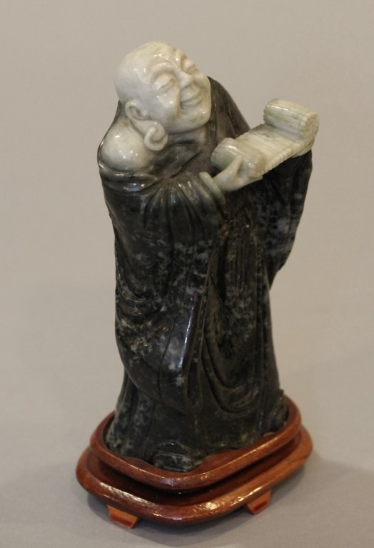 Chinese stone carving of the laughing buddha - 3