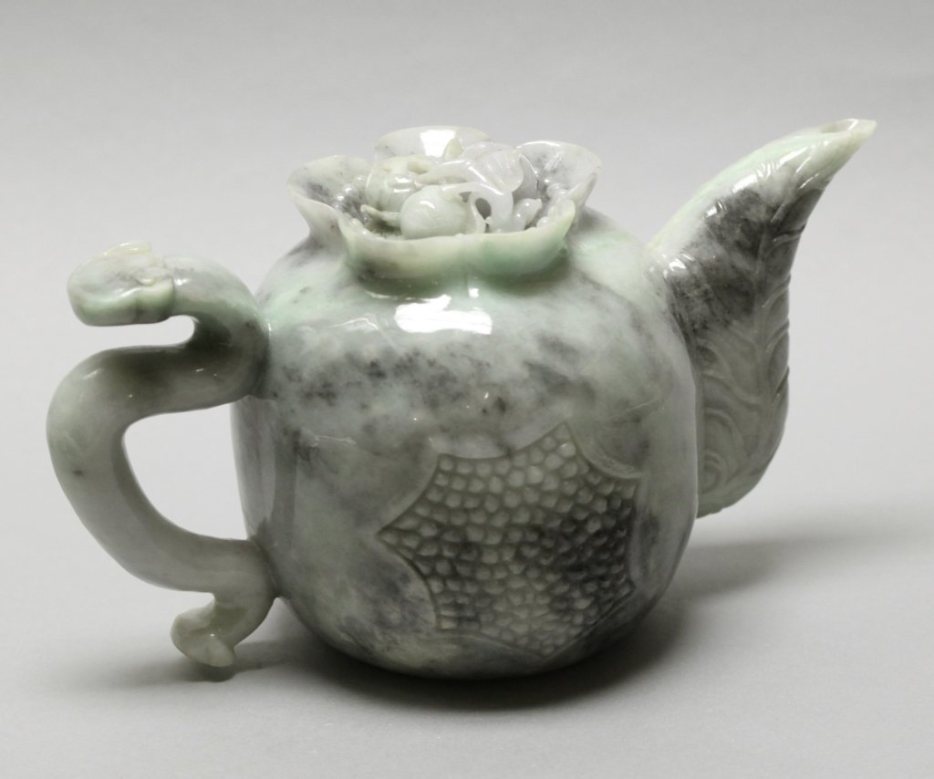 Chinese jadeite teapot set - 4
