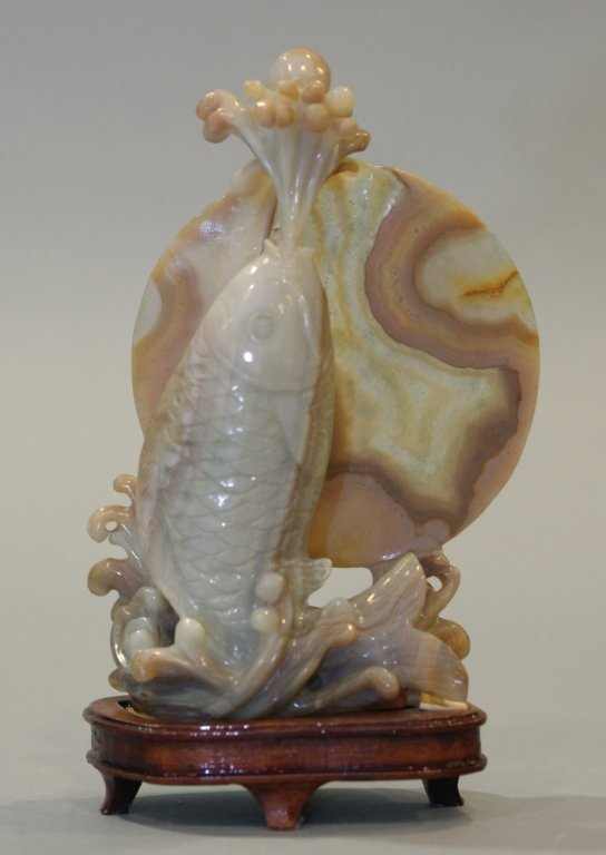 Chinese agate carving of a fish