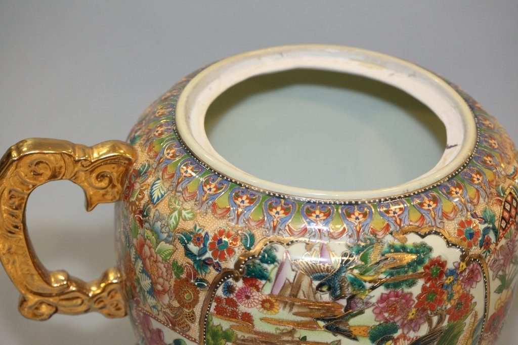 large Chinese multicolor porcelain teapot - 2
