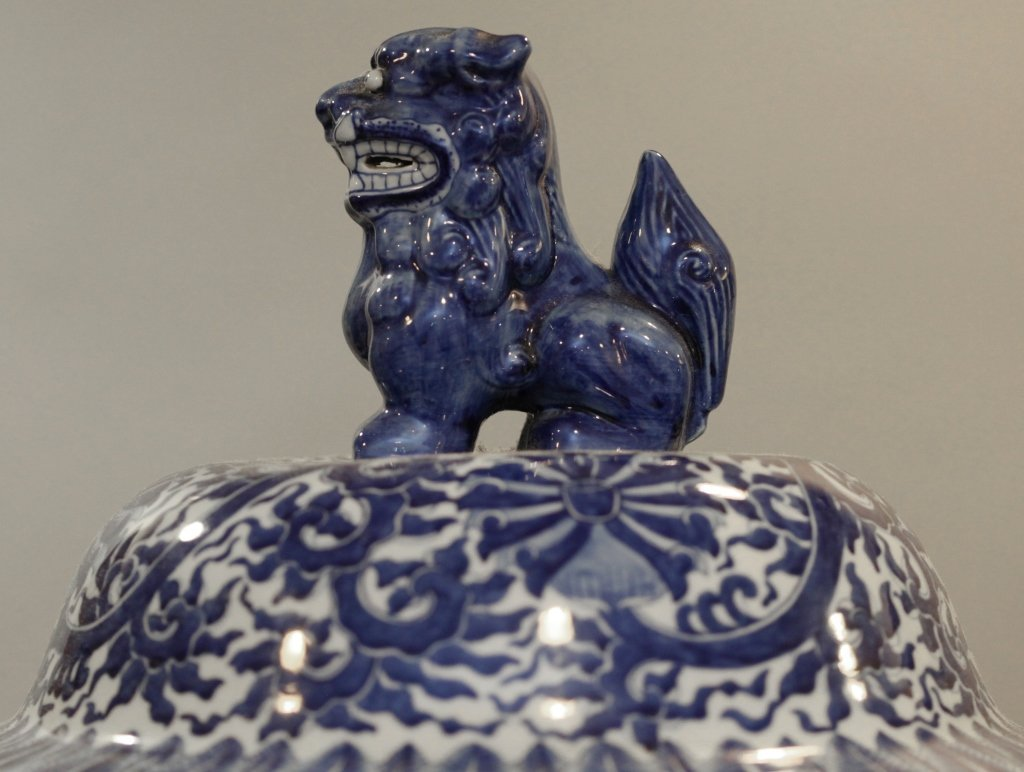 Chinese blue & white porcelain baluster jar - 2