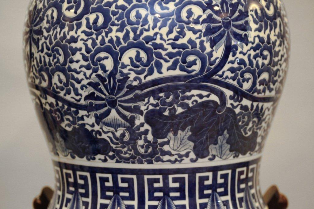 Chinese blue & white porcelain baluster jar - 3