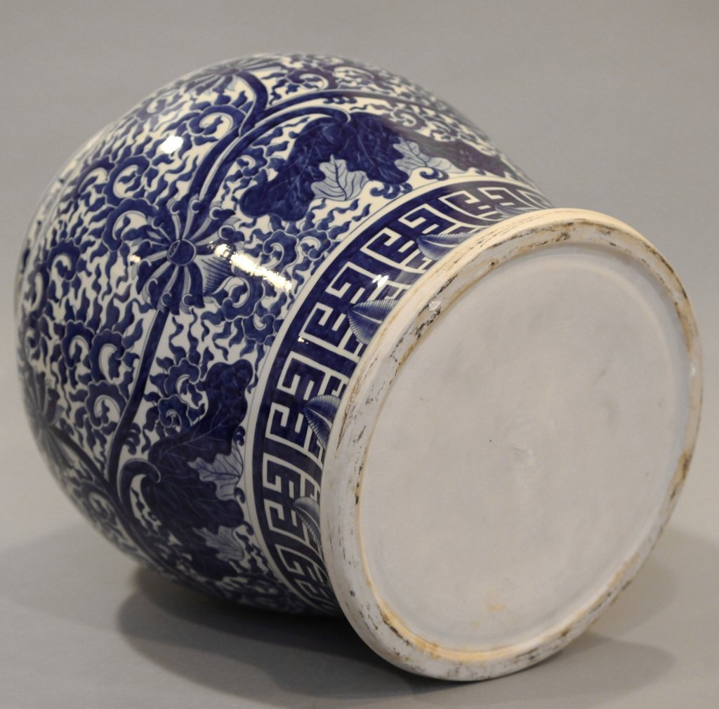 Chinese blue & white porcelain baluster jar - 5