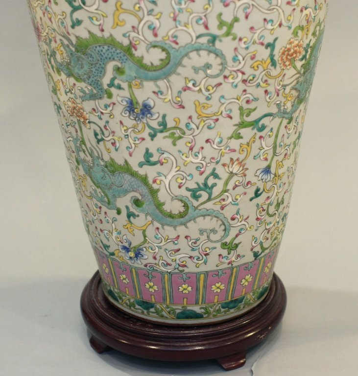 large Chinese multicolor porcelain meiping - 5