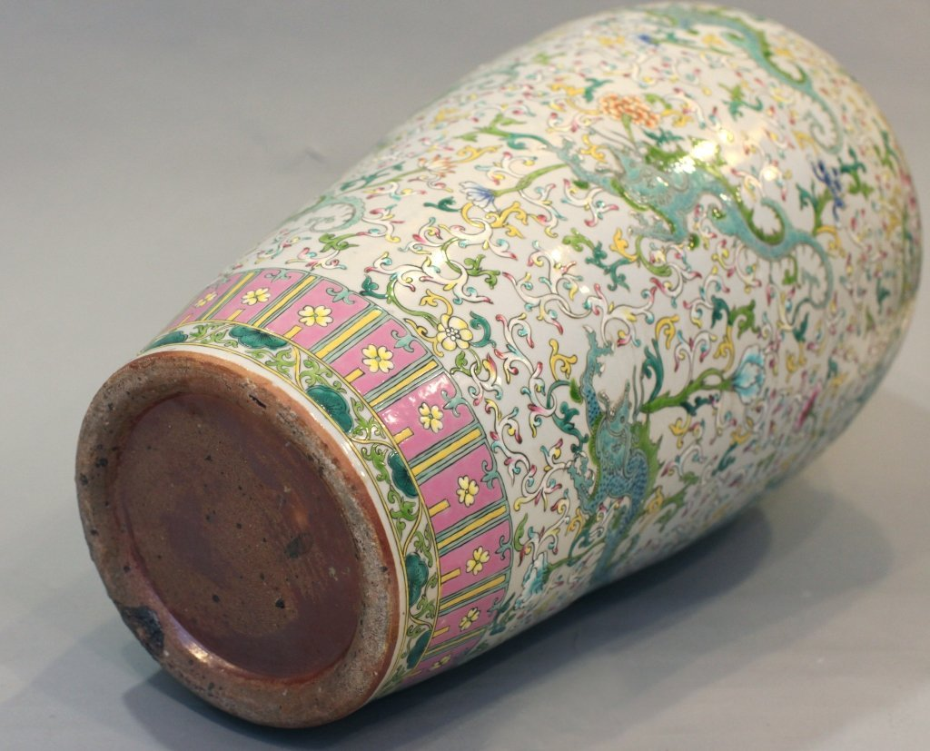 large Chinese multicolor porcelain meiping - 6