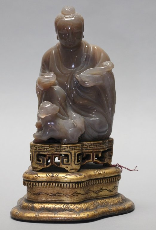19th c. Chinese agate guanyin