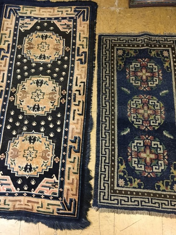 two Chinese rugs, late Qing dynasty