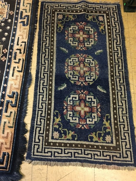 two Chinese rugs, late Qing dynasty - 3