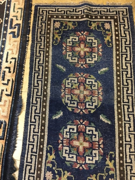 two Chinese rugs, late Qing dynasty - 5