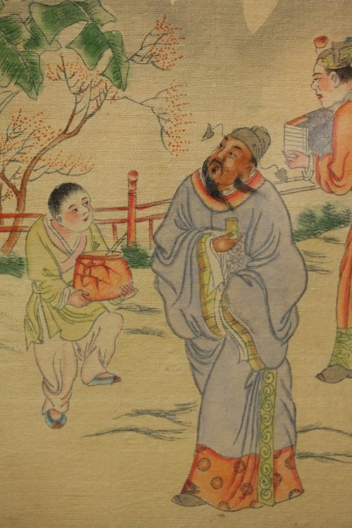framed Chinese painting on silk - 5