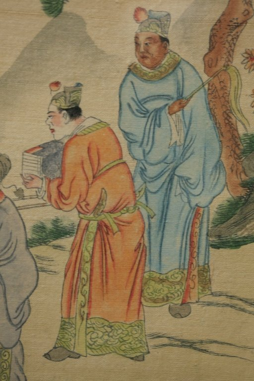 framed Chinese painting on silk - 7