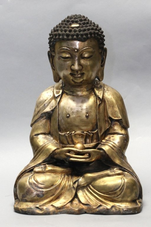 large Chinese bronze buddha