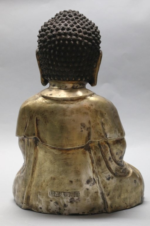 large Chinese bronze buddha - 3