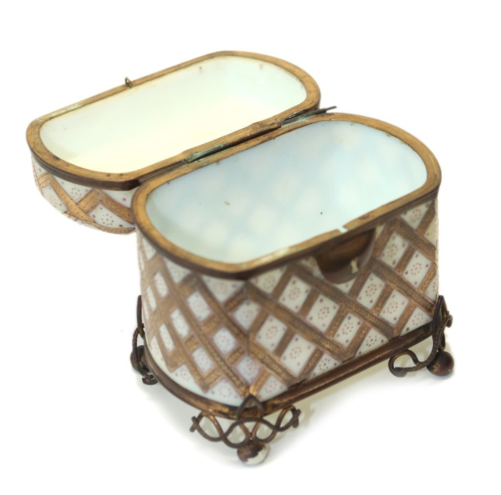 two bronze mounted glass table boxes, 19th c. - 6