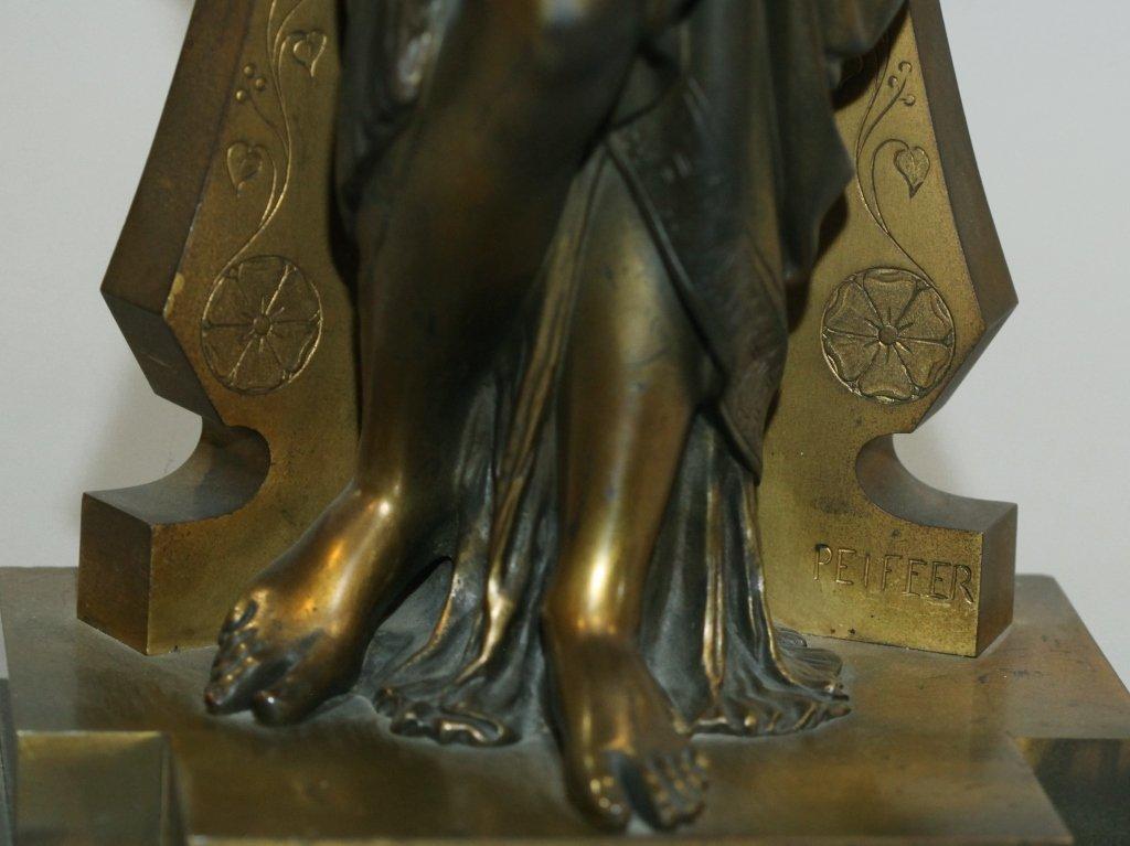 19th c. bronze figure of Diana, signed Peiffer - 4