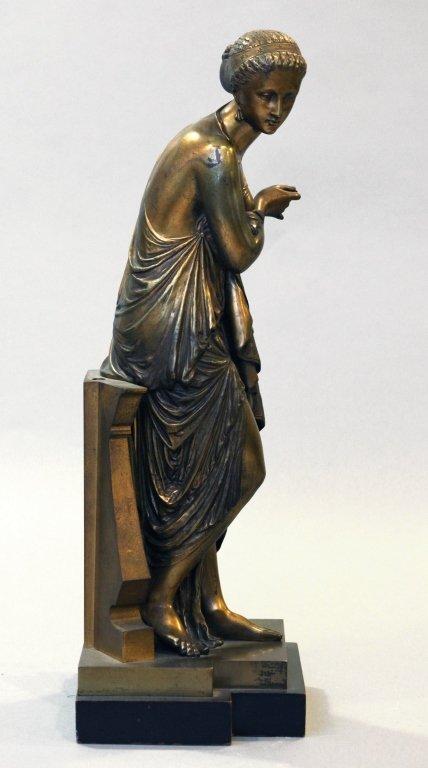 19th c. bronze figure of Diana, signed Peiffer - 5