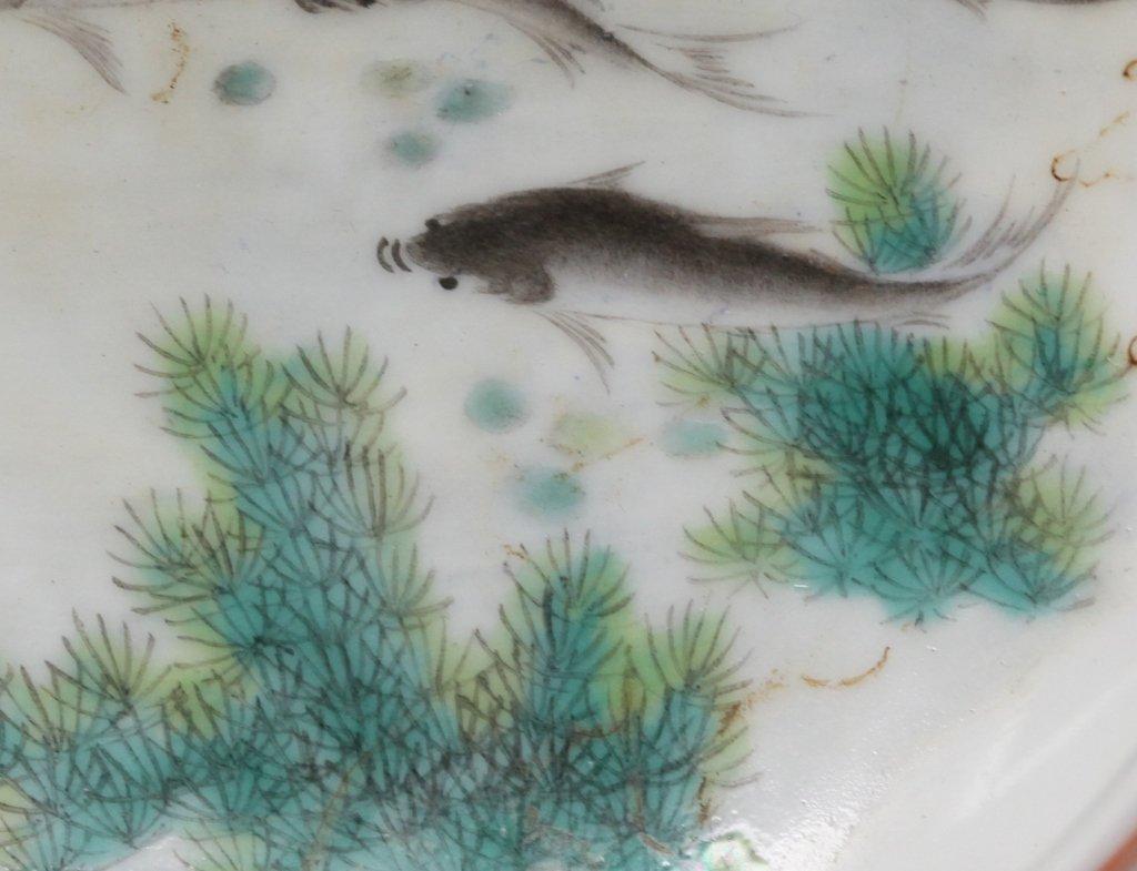 Chinese porcelain brushwasher w/ fish motif - 3