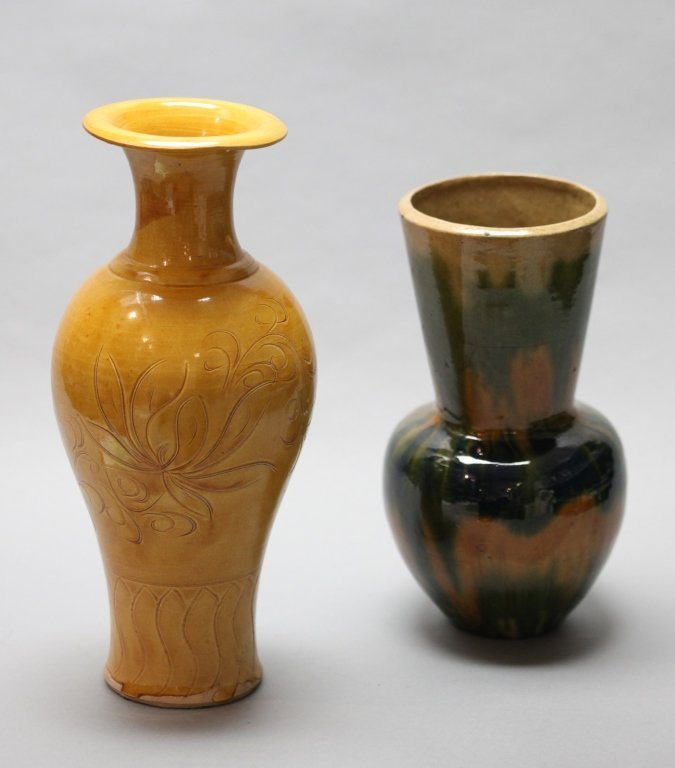 two Chinese ceramic vases, Republican period